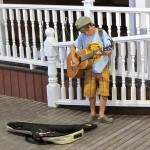 Busking at 8 years old